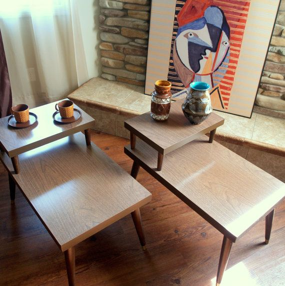 Terrific Atomic 1960S Vintage End Tables 60S Mid By Acesfindsvintage Caraccident5 Cool Chair Designs And Ideas Caraccident5Info