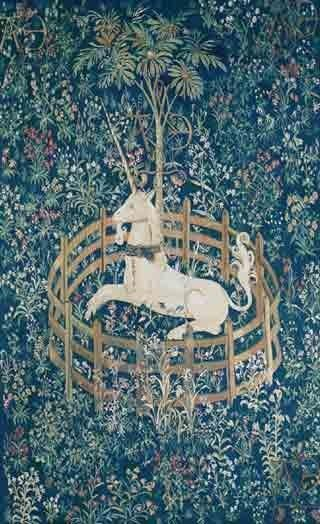GFA Tapestry V-80 - GFA Tapestry V-80  Material: Wool  Construction: Tapestry Flat-Weave  Description: The Ancient art of weaving antique Tapestries has dated as far back as the 14th century. These ancient masterpieces were once originally decorative paintings done by famous artists. Master weavers transformed these paintings into beautiful pieces of woven art. Each Gallerie One tapestry is woven using only the finest wools, silks and dyes, requiring up to 250 shades of wool and up to ...