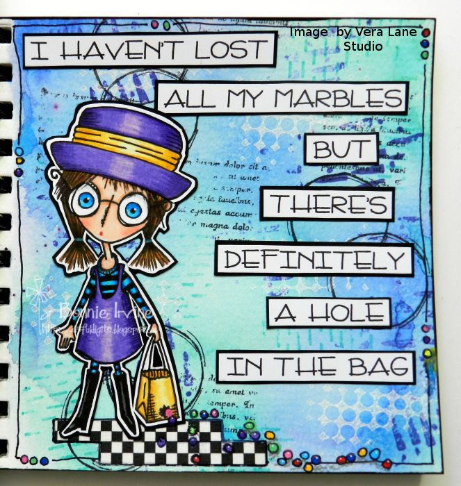 Losing my marbles #artjournalmixedmediainspiration