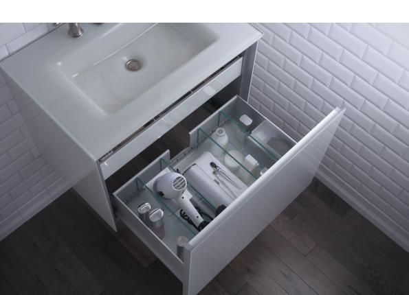 Immensely Useful Features Include Integral Night Light In Drawer Electrical Hair Dryer Organizer And Slim Insert