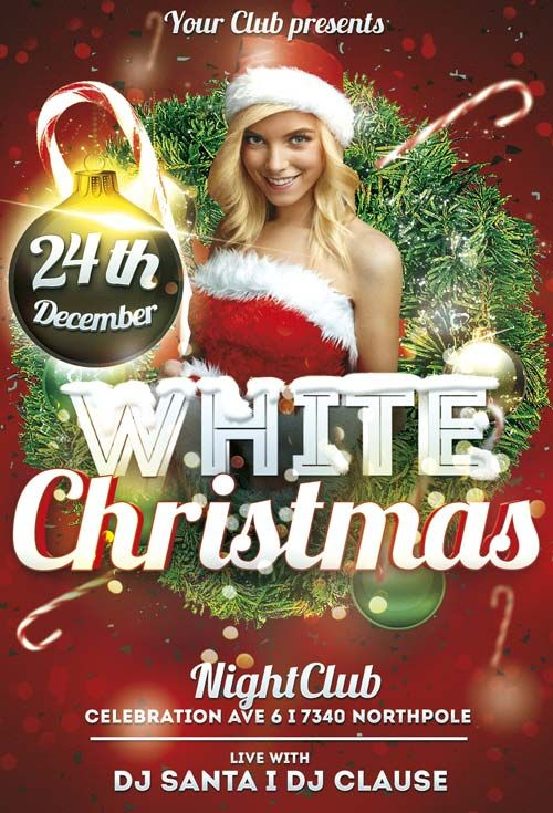 Free White Christmas Flyer Template  Free Flyer Templates