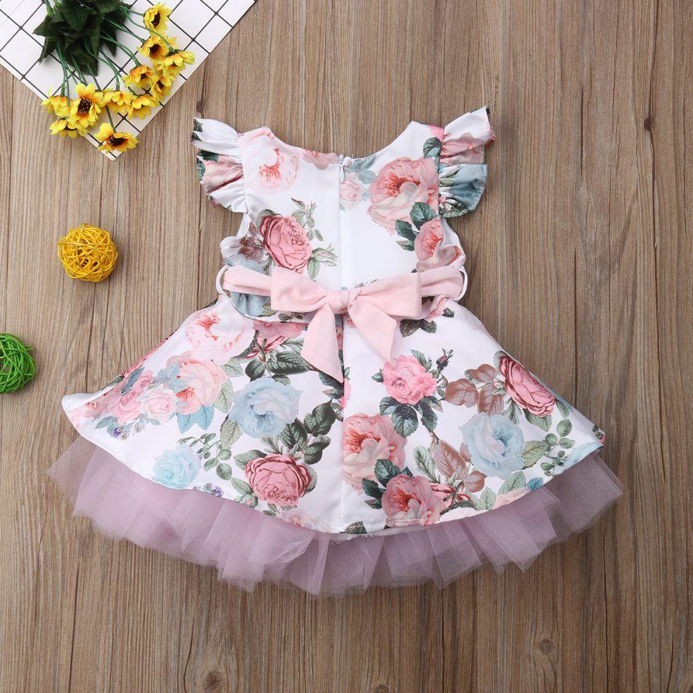 Baby Girls Dress Flower Lace Tutu Dress For Baby Girl  Girls