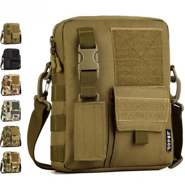Men Nylon Handbag Military Tactical Shoulder Messenger Bag Molle Cross Body Pack
