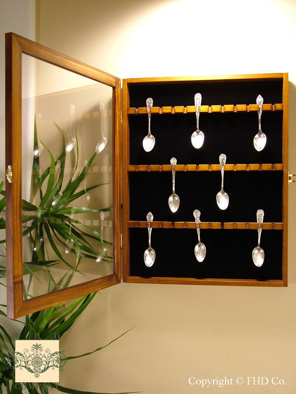 Spoon Rack Display Case | Coin Display Cases, Slab Coin Boxes ...