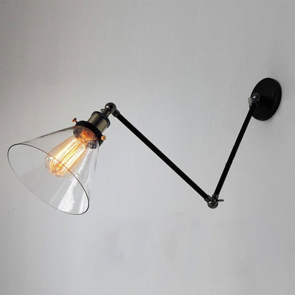 Nostralux Modern Industrial Long Adjustable Wall Sconce Edison Lamp Retro Glass Wall Light Amazon Co Uk Lighting