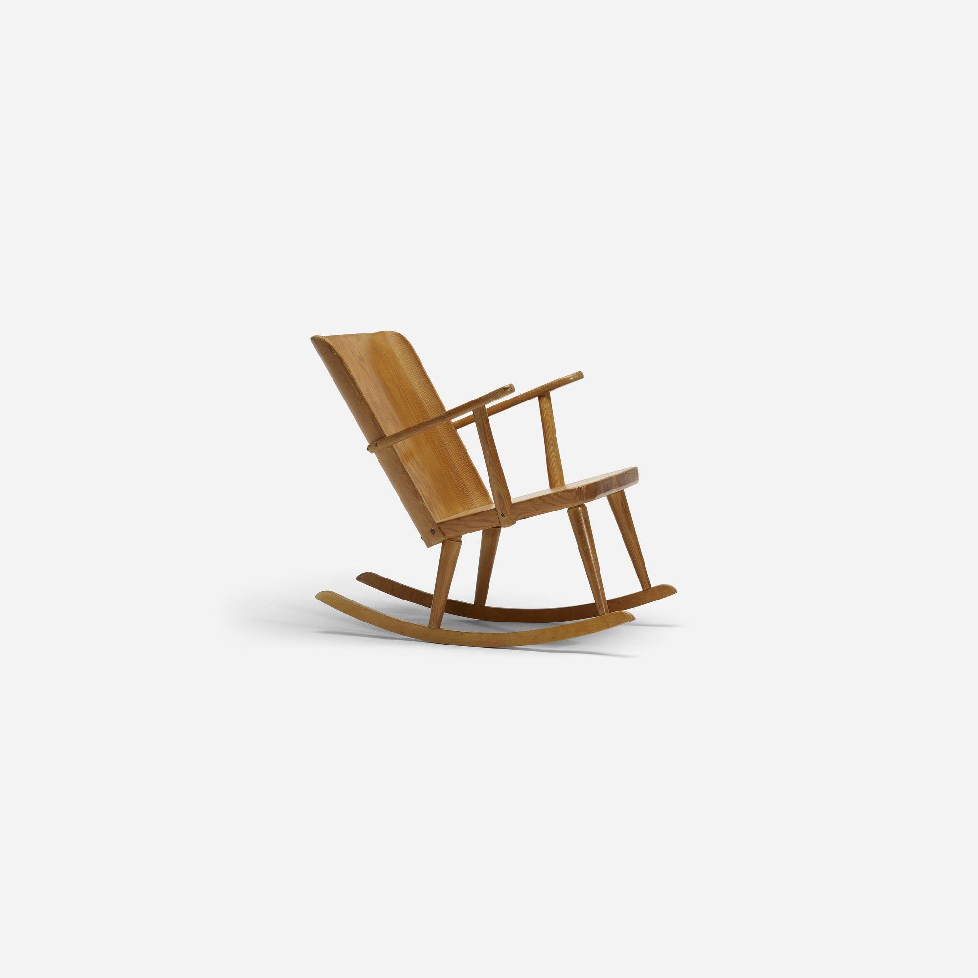 241: Carl Malmsten / Pine Rocking Chair (3 Of 3)