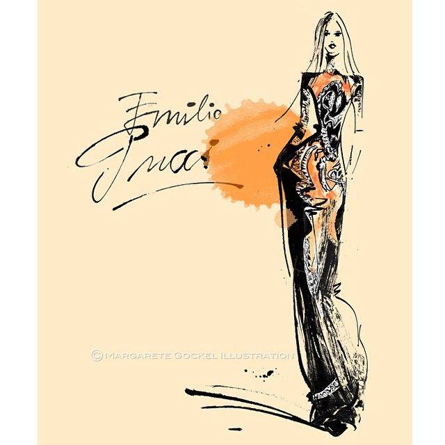 Impressions of Milan Fashion Week: Adorable Emilio Pucci Collection. Planets and zodiac signs. #milanfashionweek #mfw #emilopucci #f/w2015 #fashionillustration  #sketch #emilio #pucci #zodiac @traffic_nyc