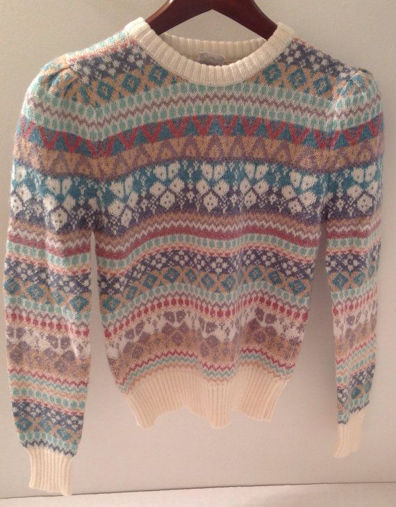 Unique Winter Vintage 80s 90s Gap Sweater Nordic Fair Isle Acrylic ...