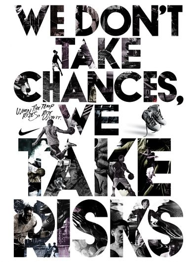 Nike illustrated typography poster