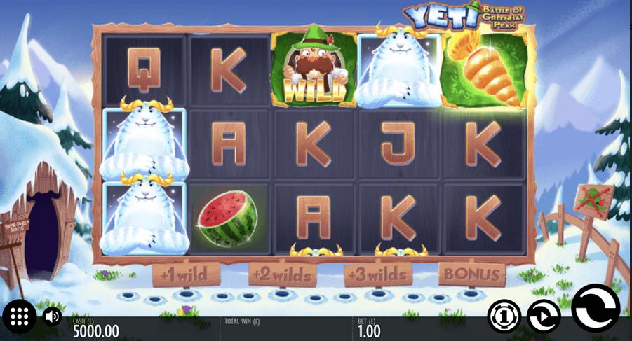 Yeti Battle of Greenhat Peak Slot Machine