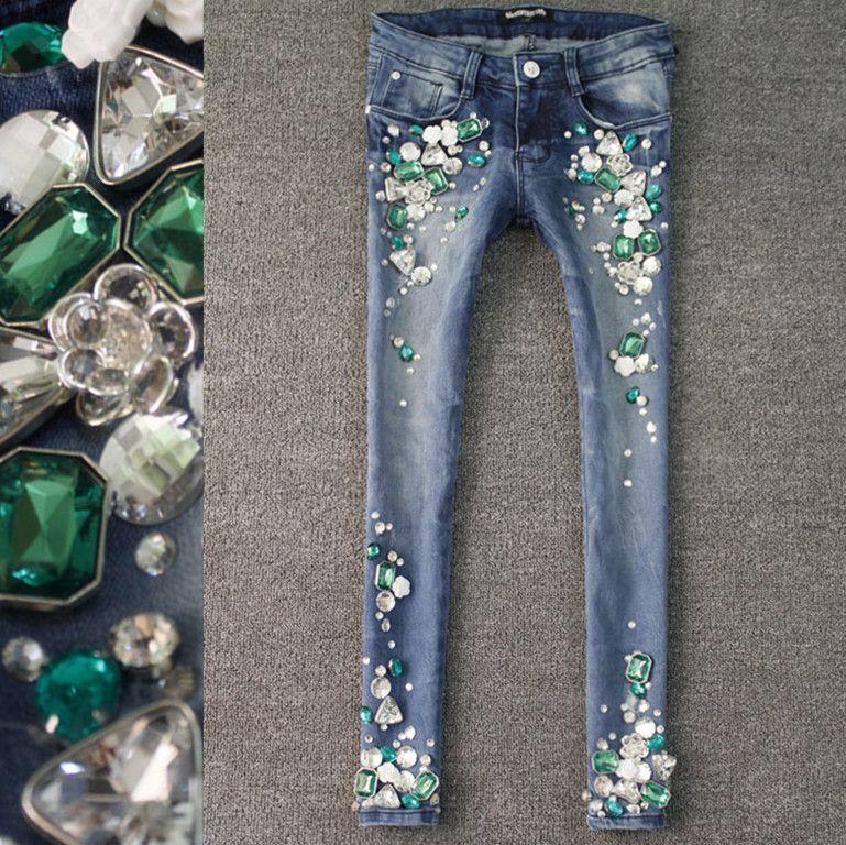 jeweled jeans.