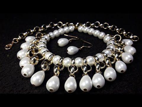 41cf3433efba Hermoso y Fácil Collar de Perlas y Cristales...Clase  42!!! - YouTube