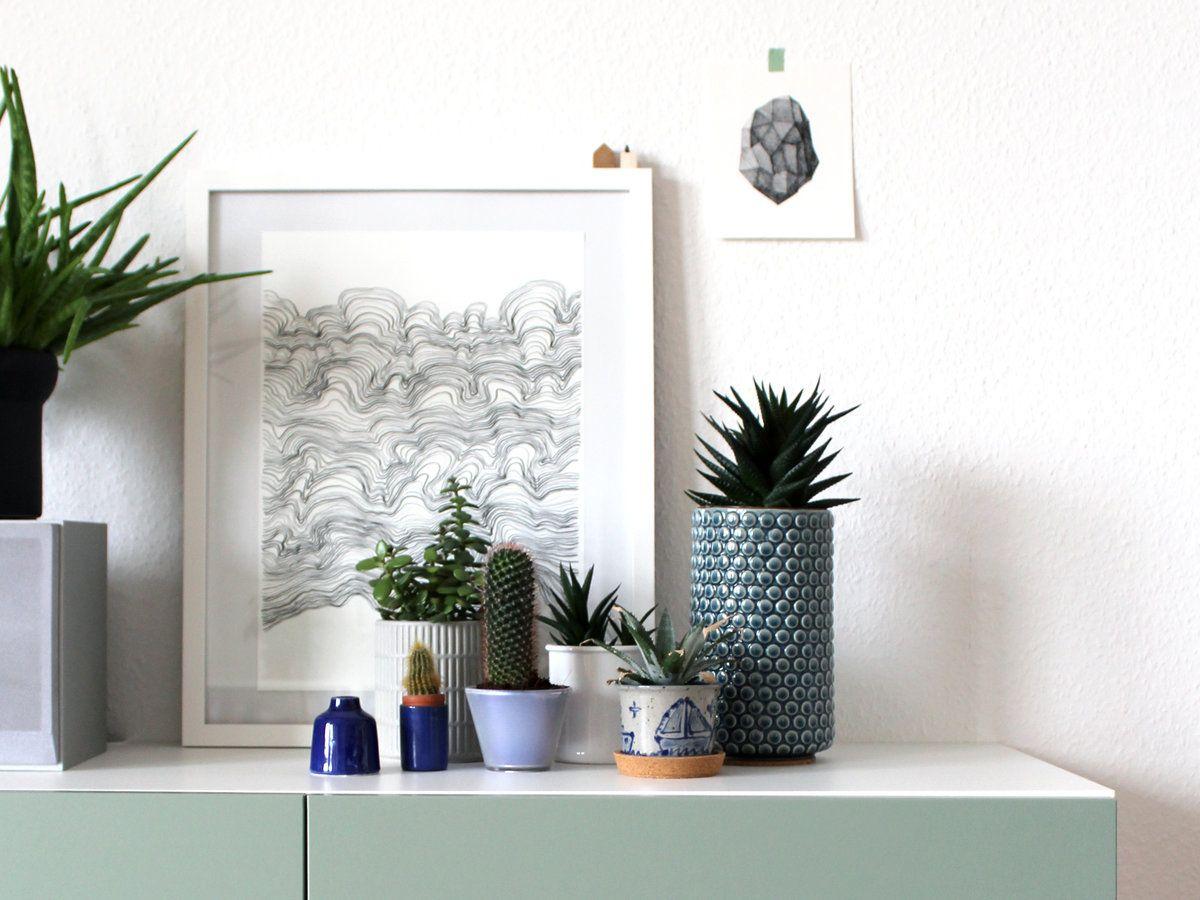 wir lieben kakteen die sch nsten kaktus accessoires f r dein zuhause pinterest minimal. Black Bedroom Furniture Sets. Home Design Ideas