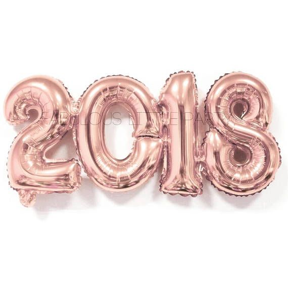 2018 Balloon Graduation Decorations, Senior Photo-shoot Props, Decor, Number, Mylar Foil, Party, Rose Gold Photo Props, Banner Backdrop Approx un-inflated size: 32 inches Inflated size: 24 inches **Please note that this balloons will not float! Inflate with air only! The balloon