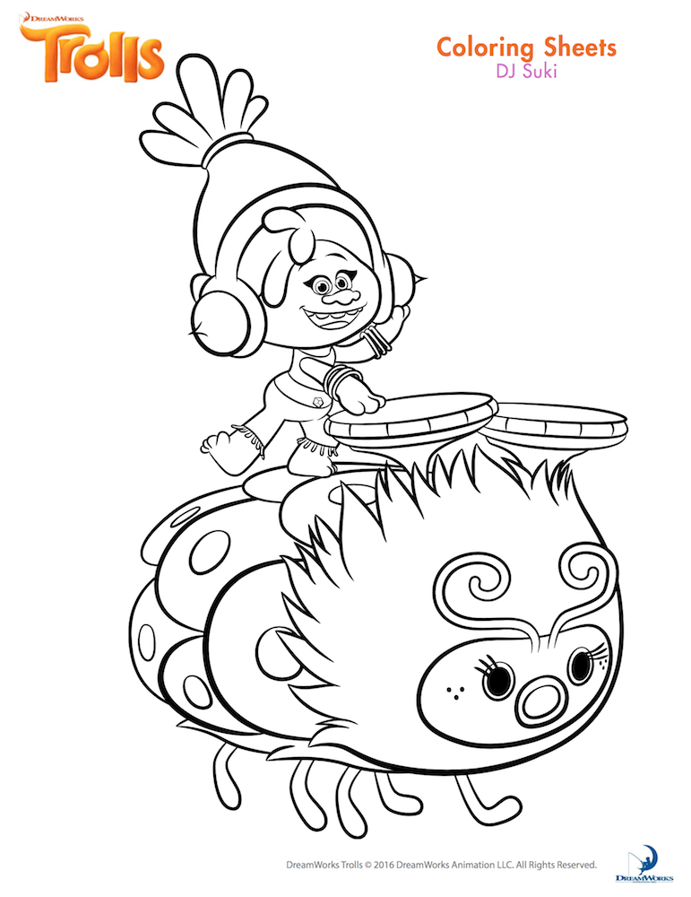 Trolls Party Poppy Coloring Page Cartoon Coloring Pages Disney Coloring Pages