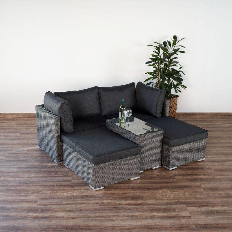 4 Sitzer Lounge Set Leta Mit Polster Lounge Ecksofa Lounge Garnitur
