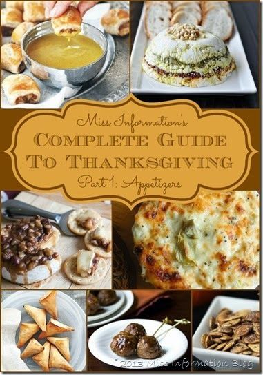 The Best Appetizers for Thanksgiving | Recipes for dips, finger foods and lots of yummy ideas.