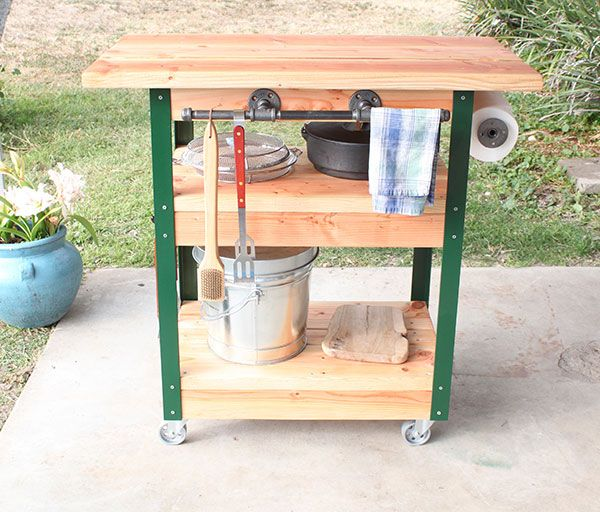 How To Build A Diy Grilling Cart The Home Depot Patios Exteriores Proyectos De Madera Y