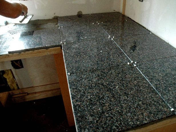 How To Install A Granite Tile Kitchen Countertop Tile Countertops Kitchen Granite Tile Countertops Tile Countertops