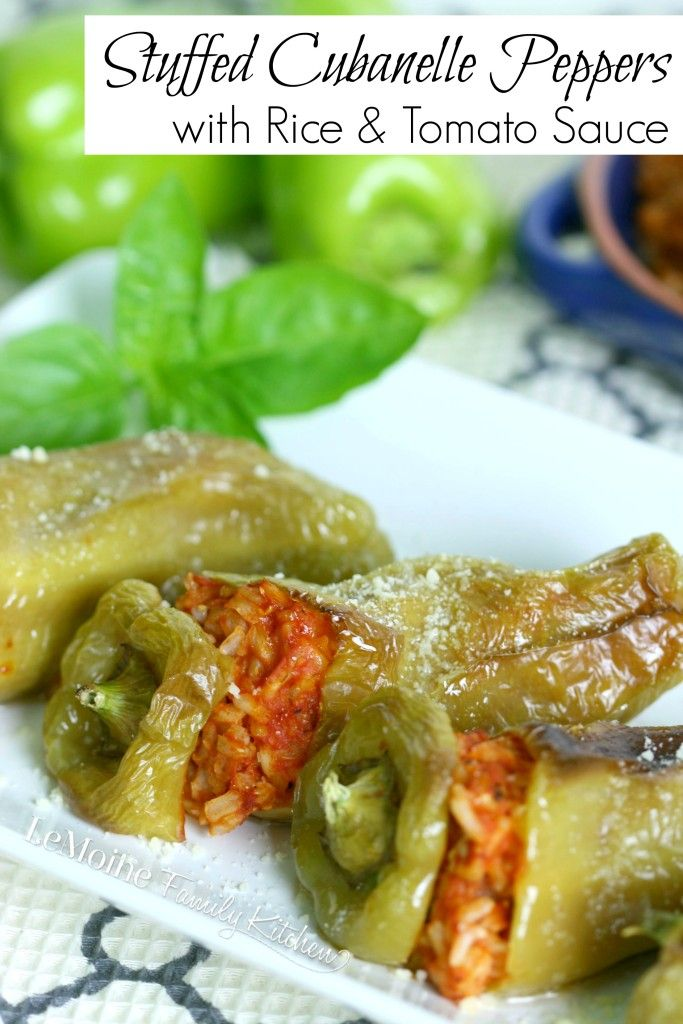 Stuffed Cubanelle Peppers With Rice Tomato Sauce The Crafting Nook Recipe Stuffed Peppers Stuffed Cubanelle Pepper Recipe Cubanelle Pepper