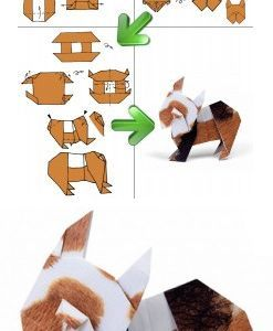 Origami Anleitung Hund