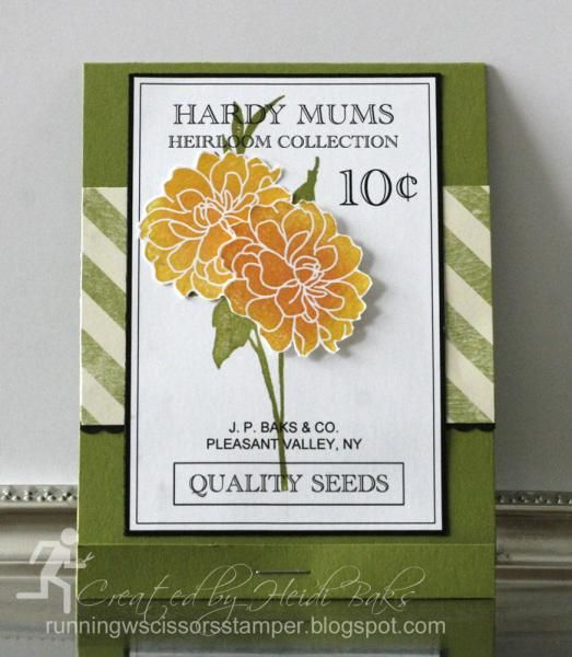Seed Packet Matchbook by hlw966 - Cards and Paper Crafts at Splitcoaststampers