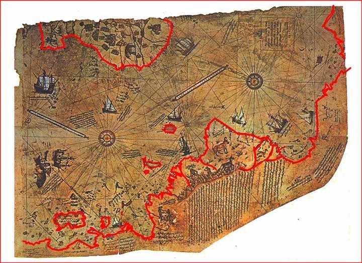 Piri Reis Karte Atlantis.Piri Reis Map Atlantis Worlds Archaeological Finds Piri