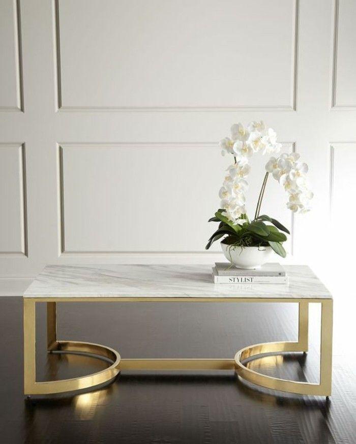 Table Basse En Marbre 58 Idees Pour Donner Du Style Au Salon Archzine Fr Table Basse Marbre Table Basse Table Basse Marbre Blanc