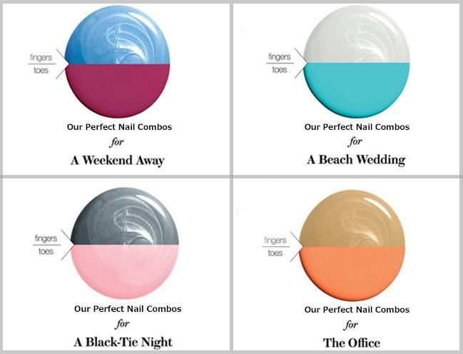 Follow Our Mani-Pedi Chart for Some Truly Unusual and Awesome Colour Combinations