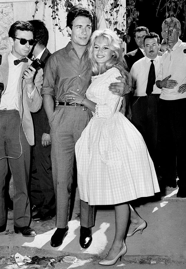 Brigitte Bardot inspired the über-flattering fit-and-flare dress, a classic shape. // #Fashion