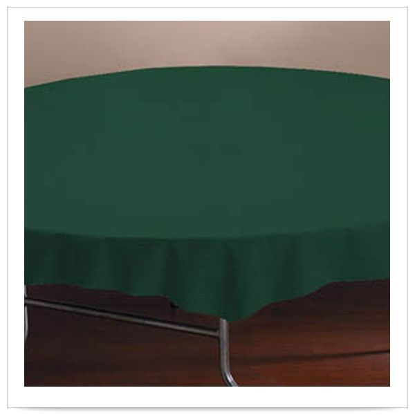 82 inch Hunter Plastic Octy Round Tablecover/Case of 12