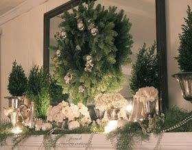 french country cottage a quiet christmas mantel