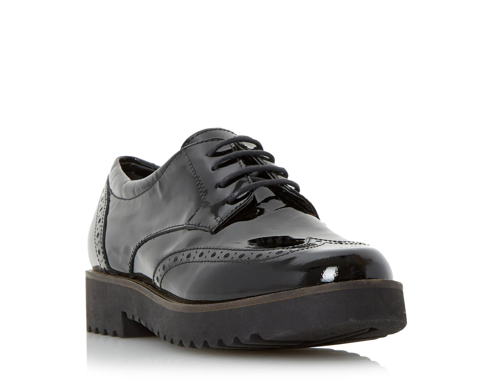 Thick Sole Lace Up Brogue Shoe