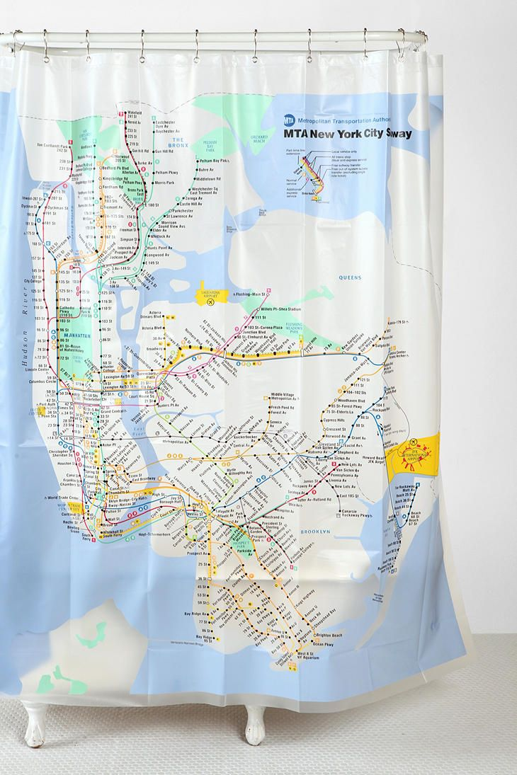 New York City Subway Shower Curtain In Case You Get Lost The