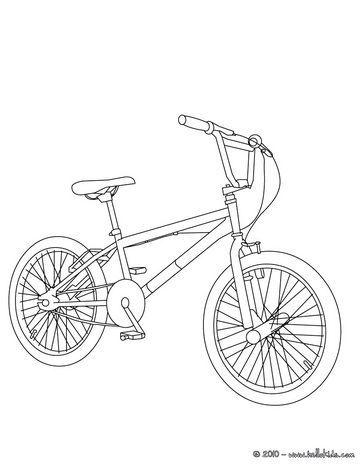 Bmx Bike Color In Coloring Page Varityskuva
