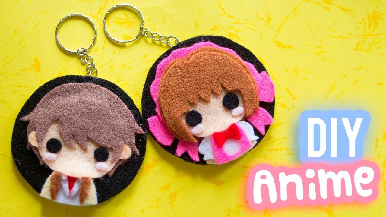 Diy anime keychain anime inspired diy gift idea for