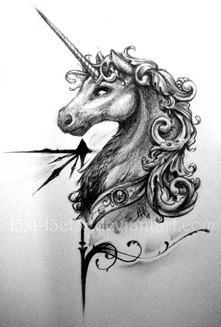 Tattoos arabesque tattoos arabeske tattoos arabesk tattoos - Baroque_unicorn See More Yin Yang Symbol Drawing Google Search Tribal Drawingtattoos
