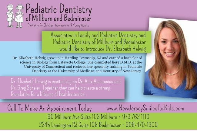Introduction postcard for dr lizzie ped dentistry of millburn business cards reheart Choice Image