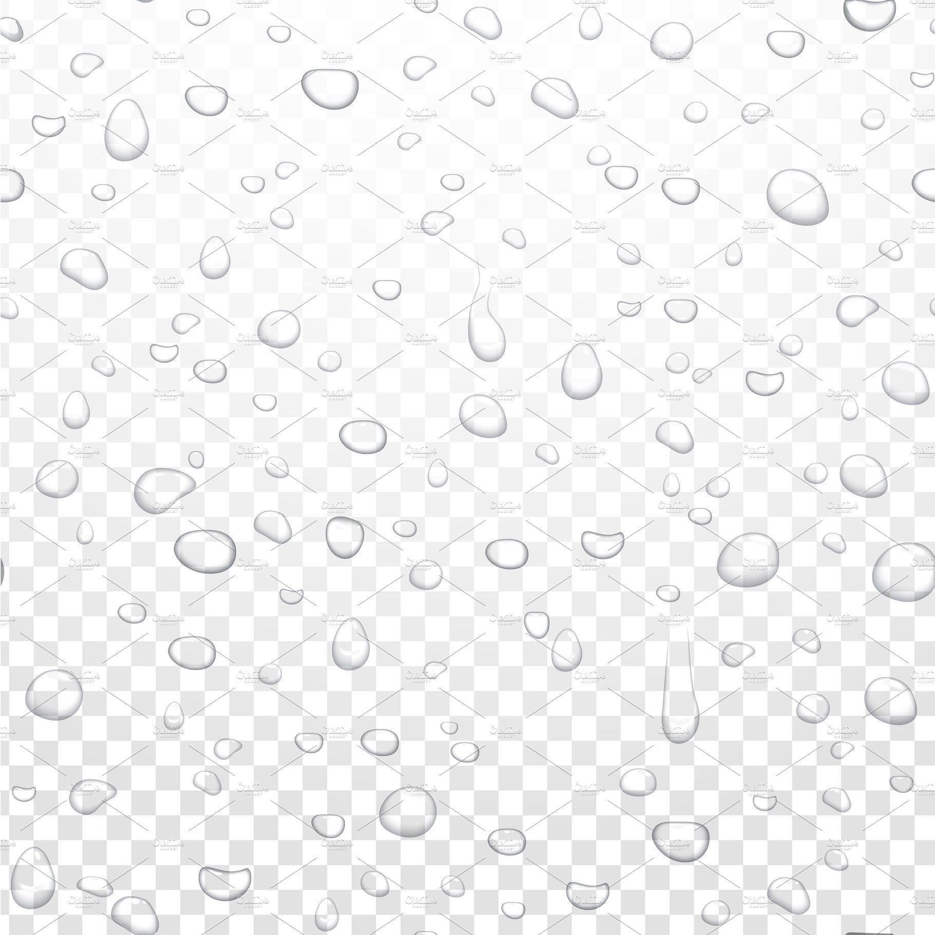 Realistic Water Rain Drops Pattern Drops Patterns Rain Drops Rain
