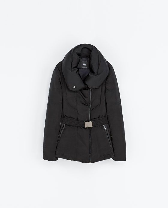 promo code b89d3 4a65f Quilted Anorak With Wraparound Collar - Zara | Style ...