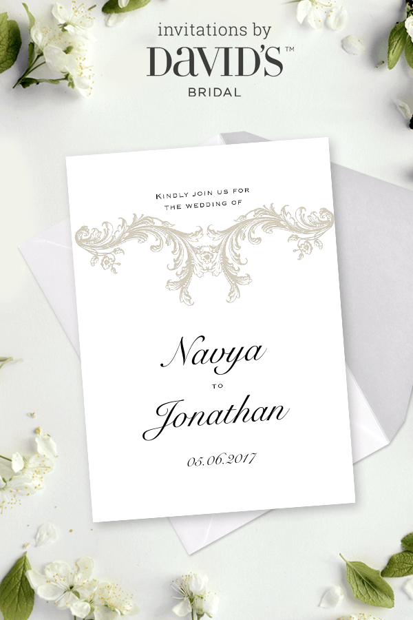 You Re Invited Design Tailored To You Wedding Invitations At David S Bridal Today Wedding Invitations Invitations Classic Invitation