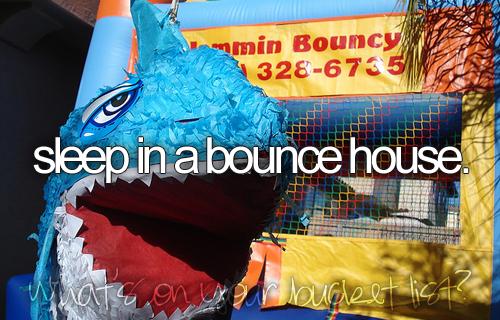 sleep in a bounce house