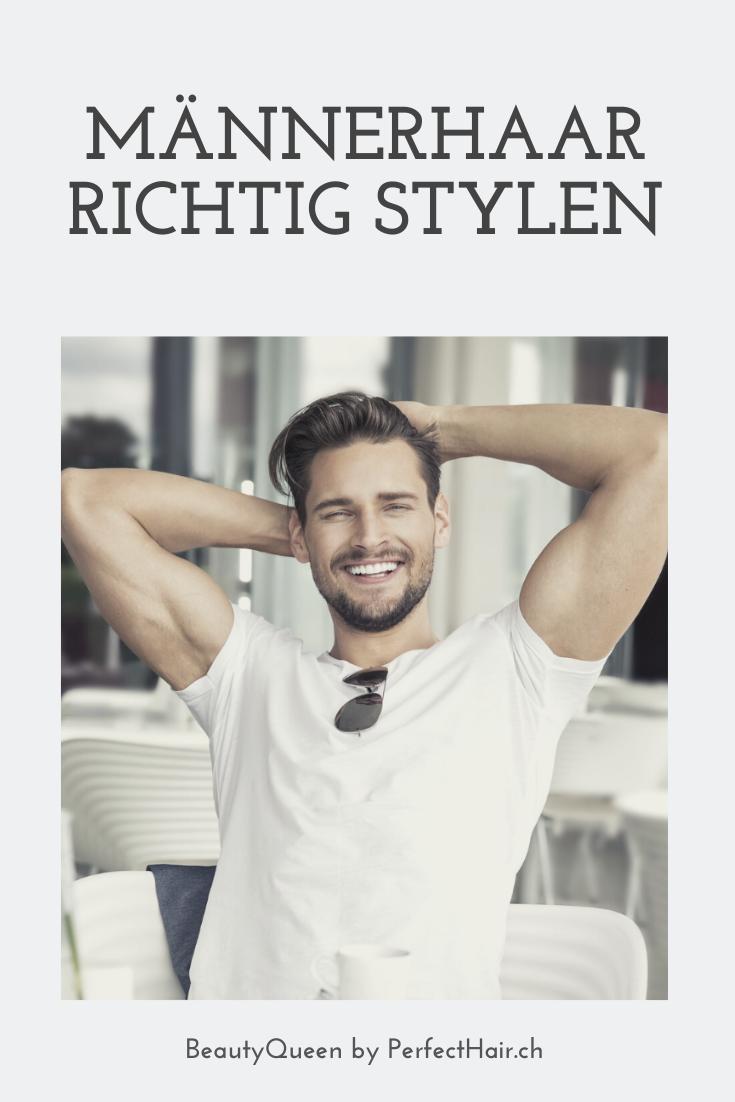 Mannerhaar Richtig Stylen So Gelingt S In 2020 Mannerhaar Haare Manner Und Lockige Haare