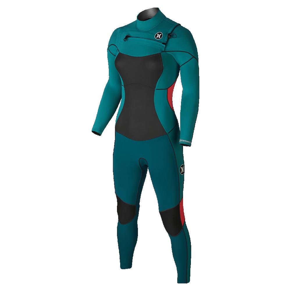 Hurley Phantom Size Women's 303 Wetsuit Fullsuit 12Green Nv80mnw