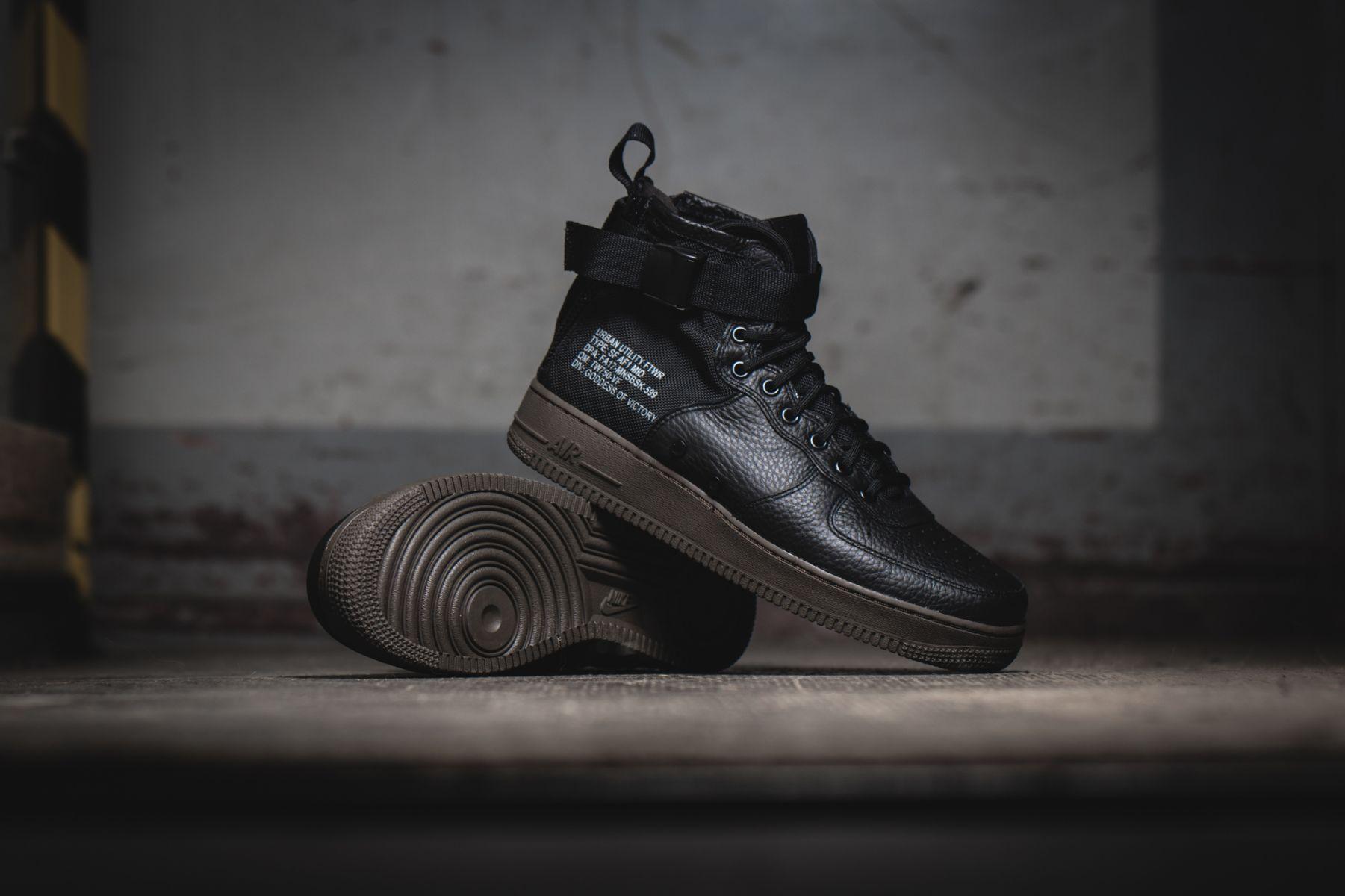 Nike SF AF-1 Mid Black / Dark Hazel Credit : 43einhalb #Nike #
