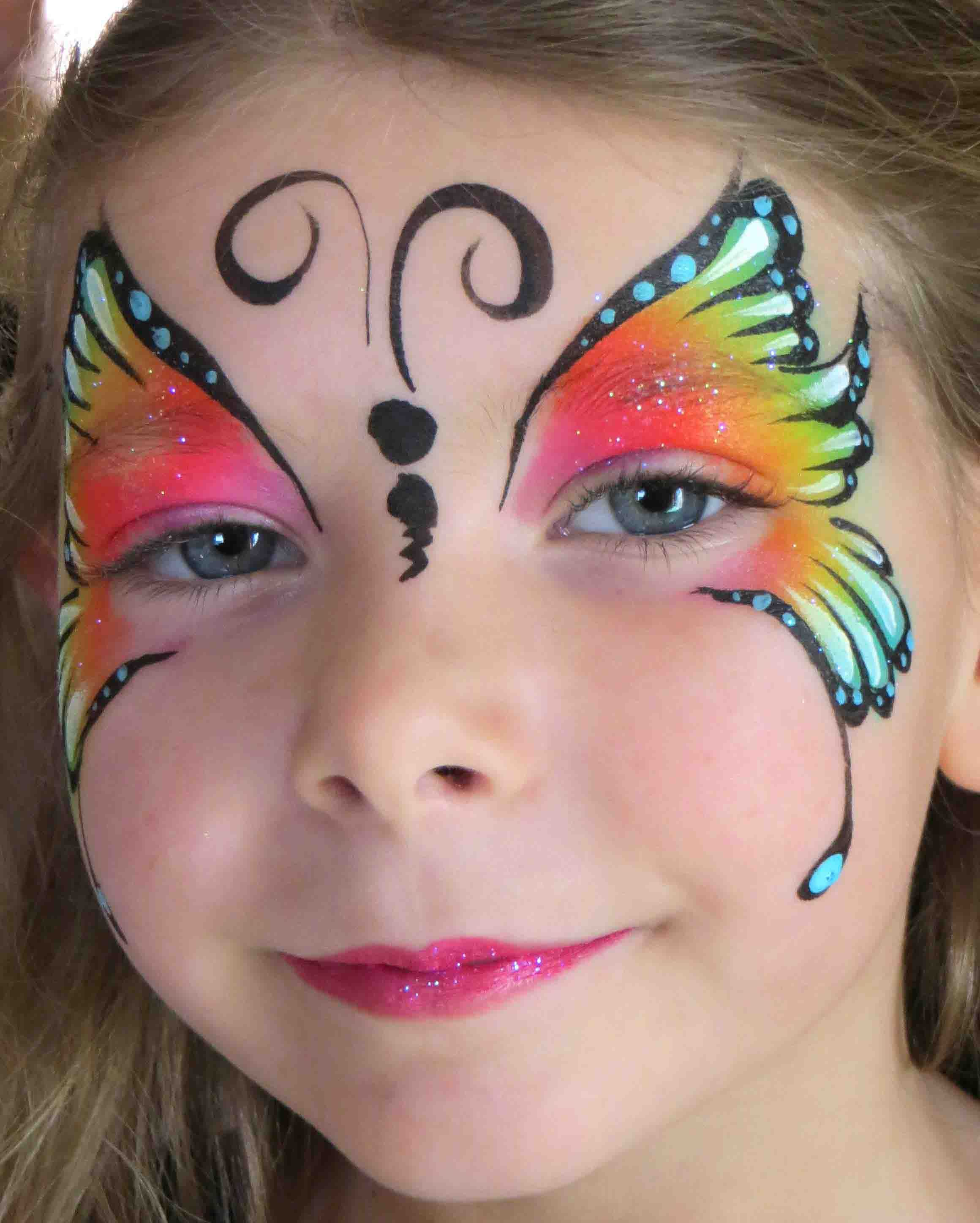 Easy Butterfly Face Painting Designs Face painting by amazing face