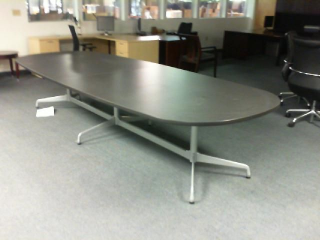Herman Miller Eames Conference Table Oval 12 Metal Legs Black Laminate Top 1275 Conference Table Mid Century Design Table
