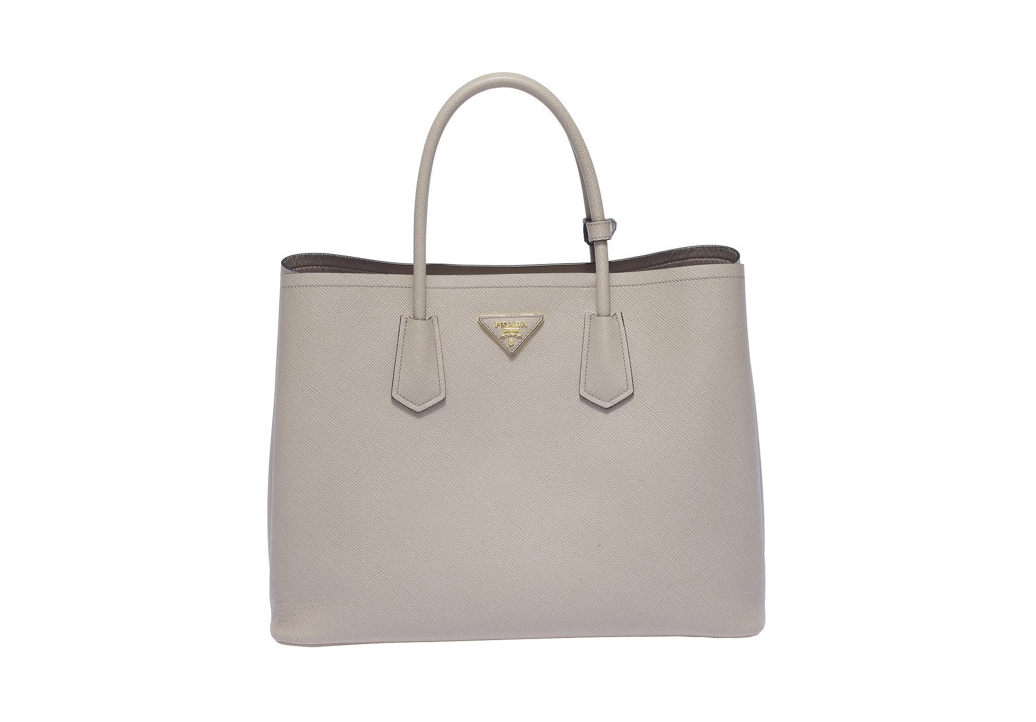 a2954f9897f9e2 official prada pomice saffiano lux leather double zip large tote bag bn1786  16503 912df; low price prada double bag in pomice 3c20a 43ac9