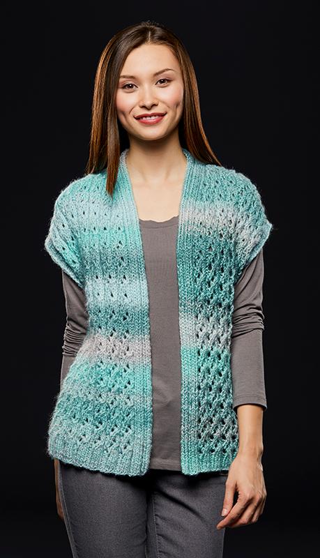Lace Rib Vest Free Knitting Pattern Knitting Knitting Patterns