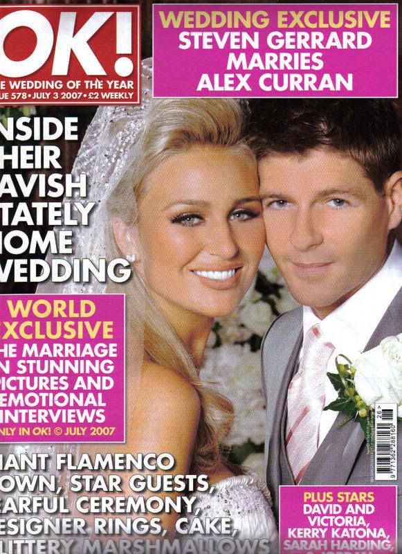 Steven Gerrard And Alex Curran Wedding Credit To Nujan The Footballers Wi